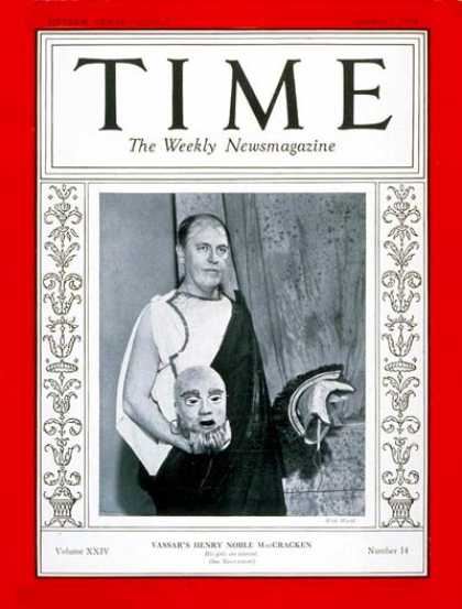 Time - Henry N. MacCracken - Oct. 1, 1934 - Education