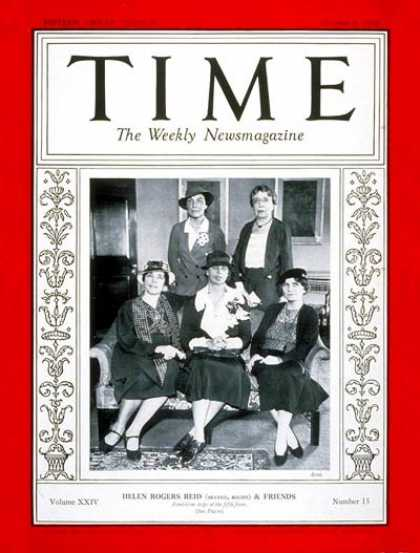 Time - Helen Reid & Friends - Oct. 8, 1934 - Publishing