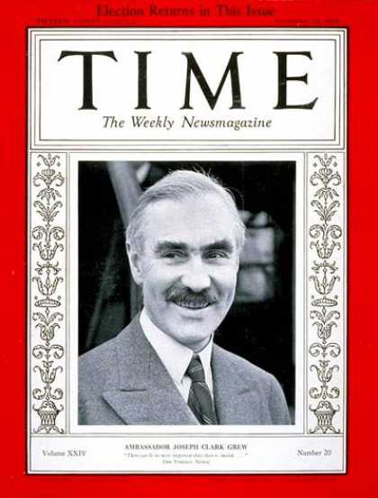 Time - Joseph C. Grew - Nov. 12, 1934 - Politics