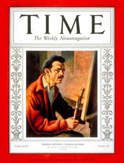 Time - Thomas Hart Benton - Dec. 24, 1934 - Painters - Art
