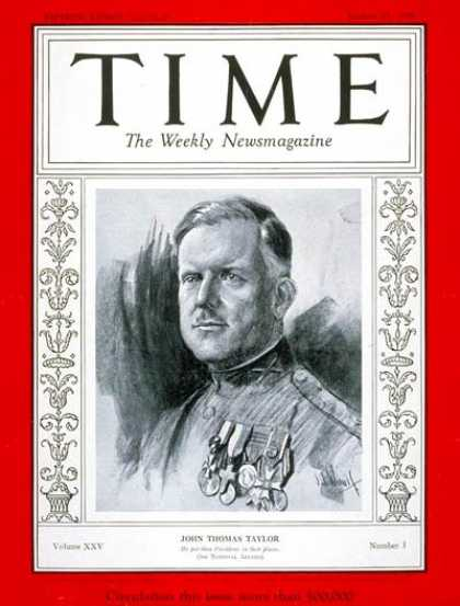 Time - John T. Taylor - Jan. 21, 1935 - Politics