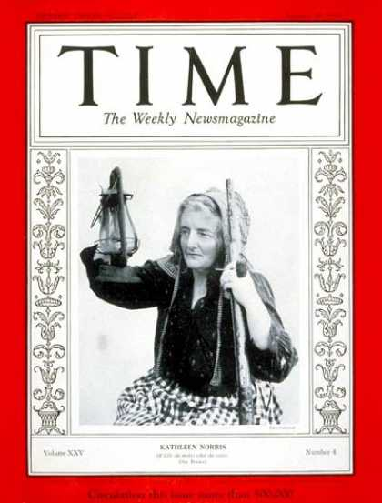 Time - Kathleen Norris - Jan. 28, 1935 - Books