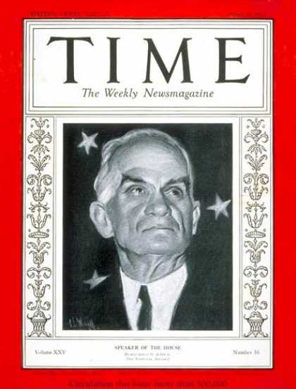 Time - Joseph W. Byrns - Apr. 22, 1935 - Army - Aviation - Politics