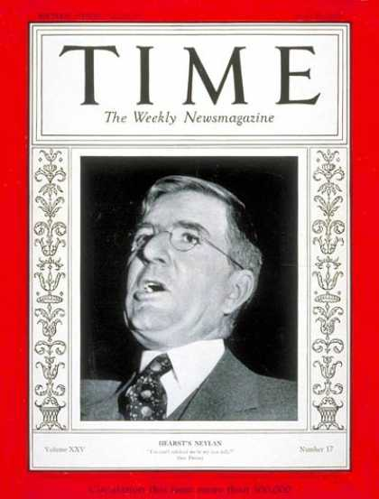 Time - John Francis Neylan - Apr. 29, 1935 - Publishing - Law
