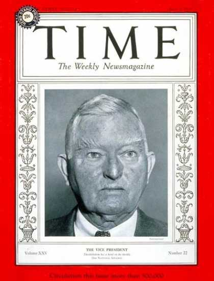 Time - John Nance Garner - June 3, 1935 - Vice Presidents - Politics - Democrats