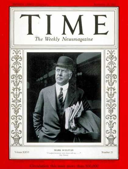 Time - Mark Sullivan - Nov. 18, 1935 - Journalism
