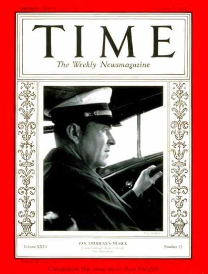 Time - Edwin C. Musick - Dec. 2, 1935 - Aviation - World War I - Transportation