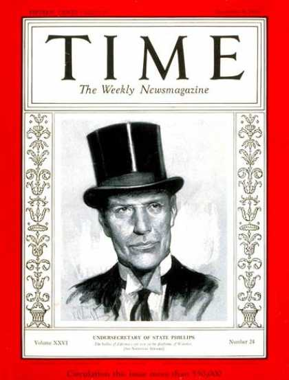 Time - William Phillips - Dec. 9, 1935 - Diplomacy - Politics