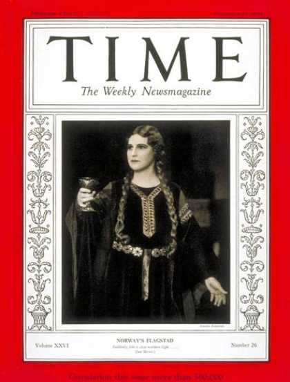 Time - Kirsten Flagstad - Dec. 23, 1935 - Opera - Singers - Music