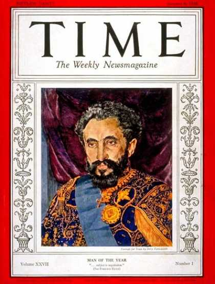 Time - Haile Selassie, Man of the Year - Jan. 6, 1936 - Haile Selassie - Person of the