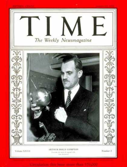 Time - Arthur H. Compton - Jan. 13, 1936 - Inventions - Innovation - Science & Technolo