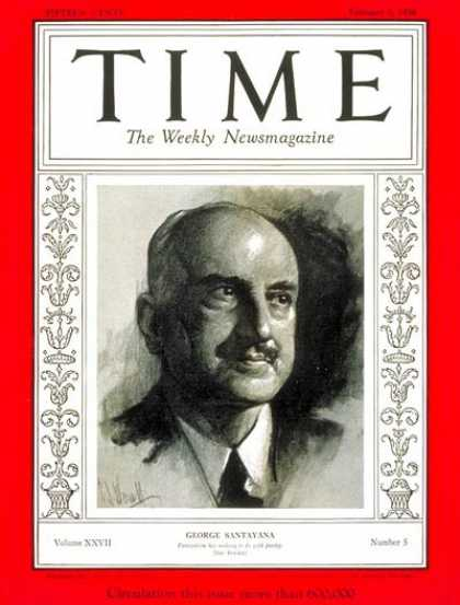 Time - George Santayana - Feb. 3, 1936 - Books - Poets