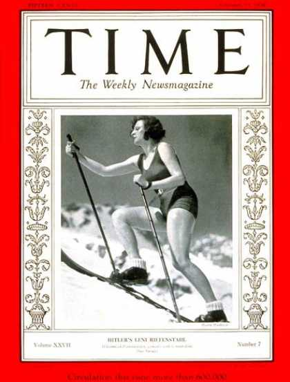 Time - Leni Riefenstahl - Feb. 17, 1936 - Actresses - Producers - Movies