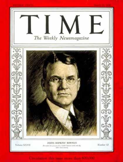 Time - Isaiah Bowman - Mar. 23, 1936 - Geography - Education