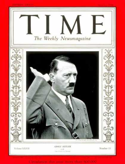 Time - Adolf Hitler - Apr. 13, 1936 - Adolph Hitler - World War II - Germany - Nazism