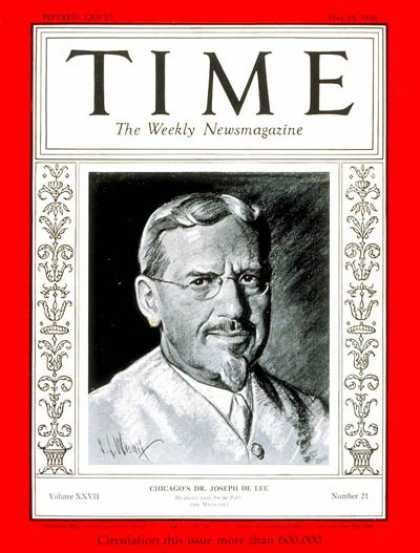 Time - Dr. Joseph DeLee - May 25, 1936 - Health & Medicine