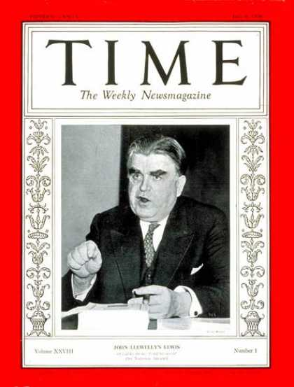 Time - John L. Lewis - July 6, 1936 - Business