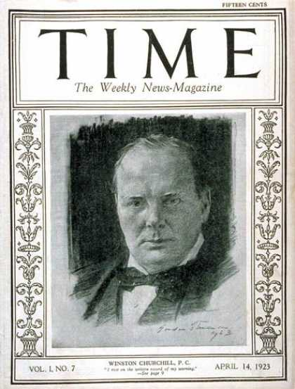 Time - Winston Churchill - Apr. 14, 1923 - Great Britain - Prime Ministers