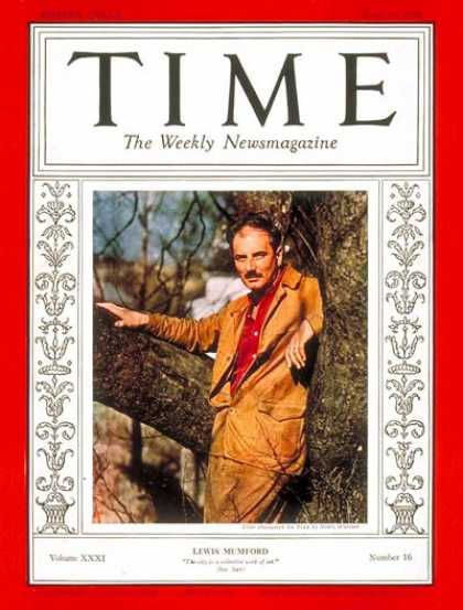 Time - Lewis Mumford - Apr. 18, 1938 - Architecture - Books