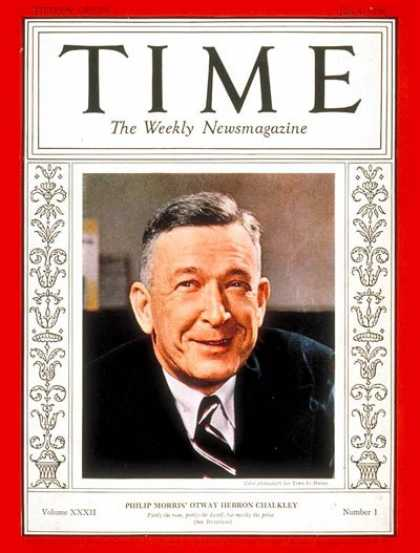 Time - Orway H. Chalkley - July 4, 1938 - Tobacco - Business