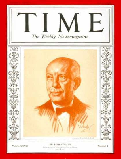 Time - Richard Strauss - July 25, 1938 - Composers - Classical Music - Music