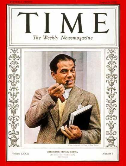 Time - Frank Capra - Aug. 8, 1938 - Directors - Movies