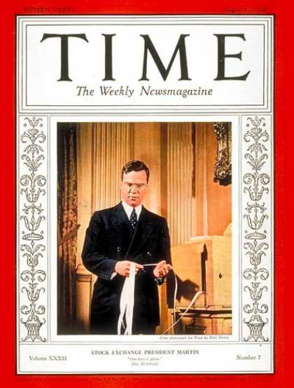 Time - Wm. McChesney Martin - Aug. 15, 1938 - Politics