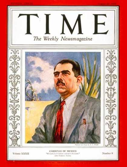 Time - Lázaro Cárdenas - Aug. 29, 1938 - Mexico - Latin America