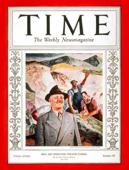 Time - Holger Cahill - Sep. 5, 1938 - Books