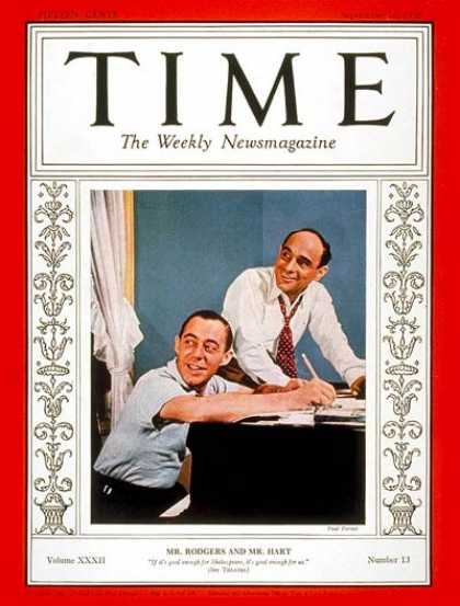 Time - Richard Rodgers & Lorenz Hart - Sep. 26, 1938 - Composers - Theater - Music - Br