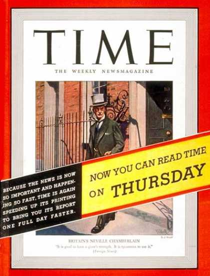 Time - Neville Chamberlain - Oct. 17, 1938 - Great Britain - Health & Medicine