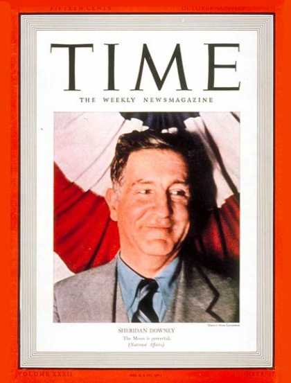 Time - Sheridan Downey - Oct. 24, 1938 - Politics