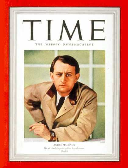 Time - André Malraux - Nov. 7, 1938 - France - Books