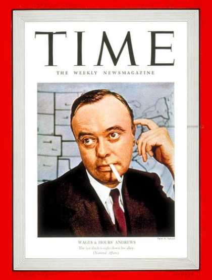 Time - Elmer F. Andrews - Nov. 21, 1938 - Labor & Employment - Business