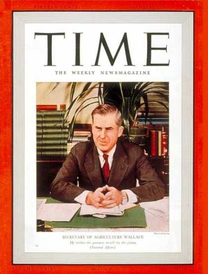 Time - Henry A. Wallace - Dec. 19, 1938 - Henry Wallace - Vice Presidents - Politics