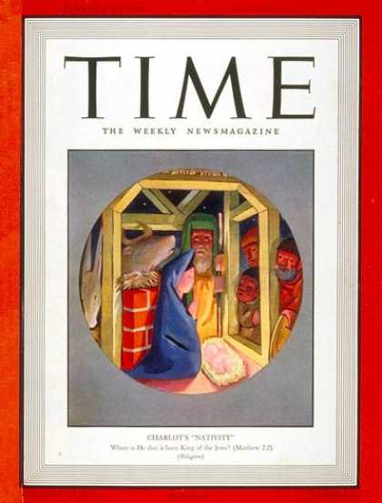 Time - Charlot's 'Nativity' - Dec. 26, 1938 - Mary - Jesus - Religion