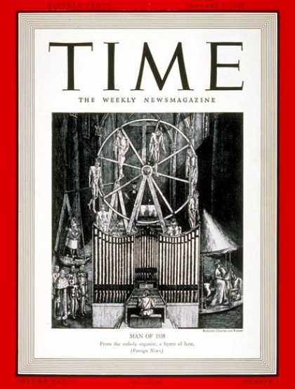 Time - Adolph Hitler, Man of the Year - Jan. 2, 1939 - Adolph Hitler - Person of the Ye