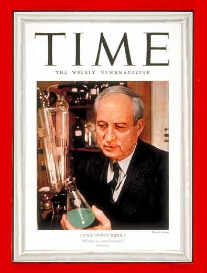 Time - Oscar Riddle - Jan. 9, 1939 - Medical Research - Health & Medicine