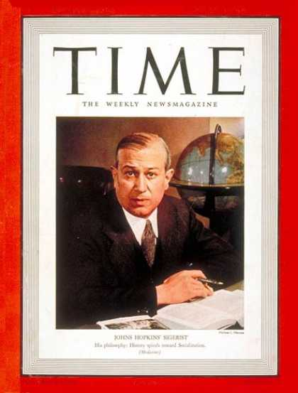 Time - Henry E. Sigerist - Jan. 30, 1939 - Health & Medicine