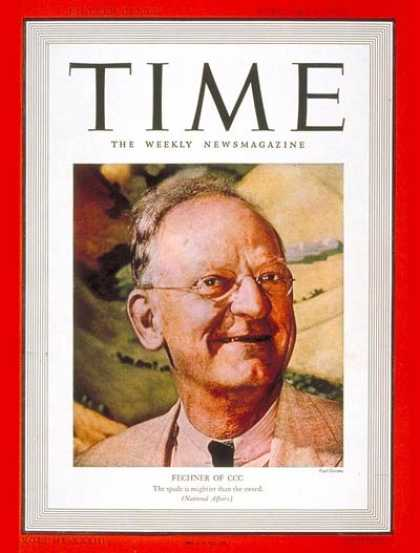 Time - Robert Fechner - Feb. 6, 1939 - Great Depression - Politics