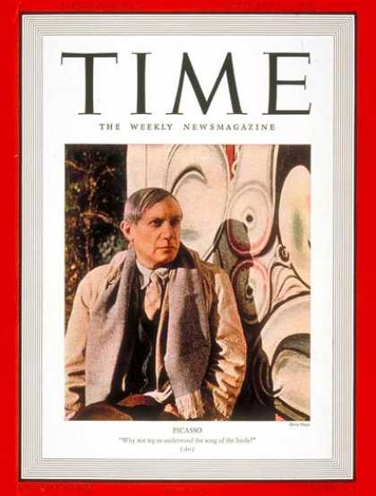 Time - Pablo Picasso - Feb. 13, 1939 - Painters - Art