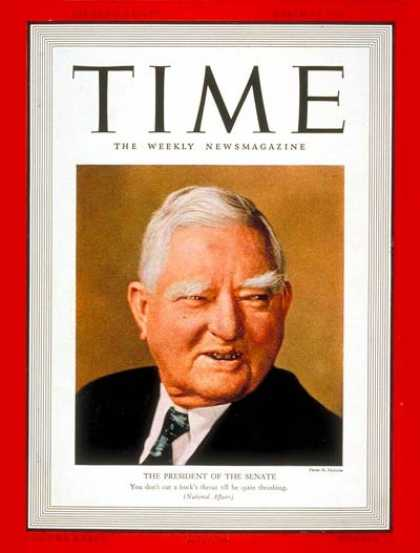 Time - John Nance Garner - Mar. 20, 1939 - Vice Presidents - Politics - Democrats