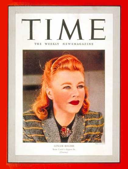 Time - Ginger Rogers - Apr. 10, 1939 - Actresses - Movies