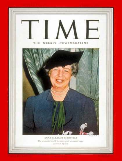 Time - Eleanor Roosevelt - Apr. 17, 1939 - First Ladies - Most Popular