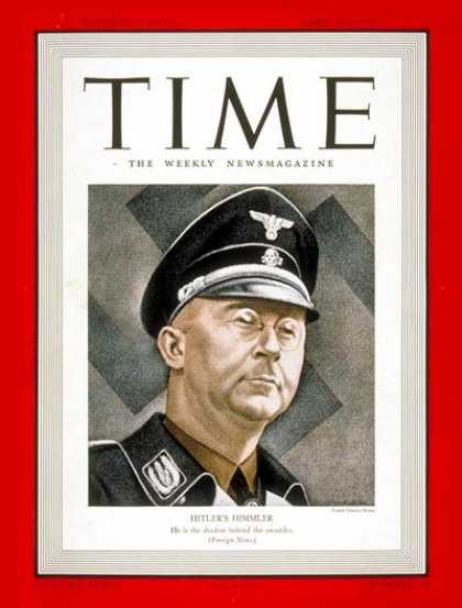 Time - Heinrich Himmler - Apr. 24, 1939 - Germany - World War II - Nazism