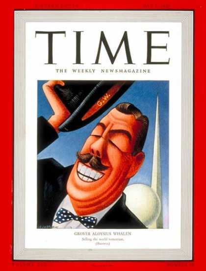 Time - Grover A. Whalen - May 1, 1939 - New York - Politics