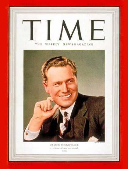 Time - Nelson Rockefeller - May 22, 1939 - Vice Presidents - New York - Politics