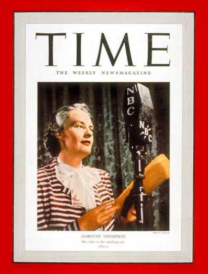 Time - Dorothy Thompson - June 12, 1939 - Journalism - Women