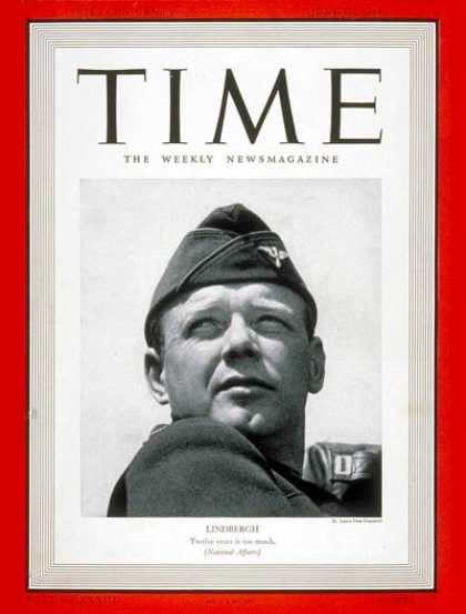 Time - Charles A. Lindbergh - June 19, 1939 - Charles Lindbergh - Aviation - Transporta