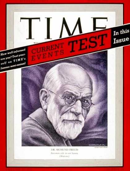 Time - Sigmund Freud - June 26, 1939 - Mental Health - Psychology - Health & Medicine